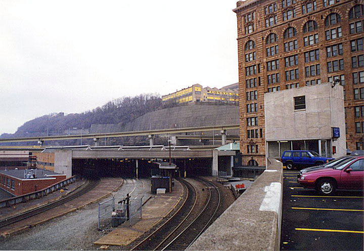 Amtrak photo archive the stations p a view eastward of the pittsburgh train shed the entrance is just visible at street level to the right sciox Images