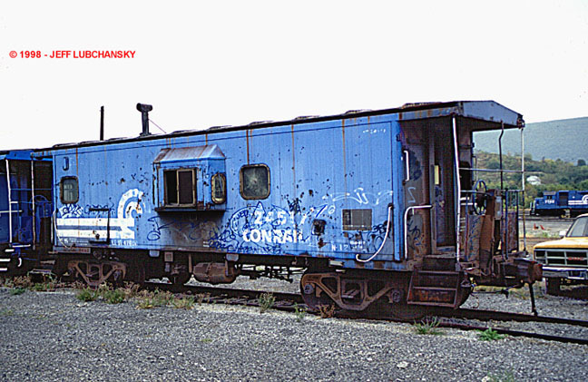 Conrail Caboose Photo Archives The N12 Ex Penn Central Bay Window